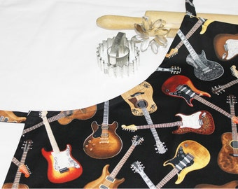 Acoustic and Electric Guitars Adult Apron