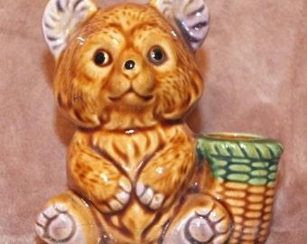 Vintage Bear Toothpick Holder