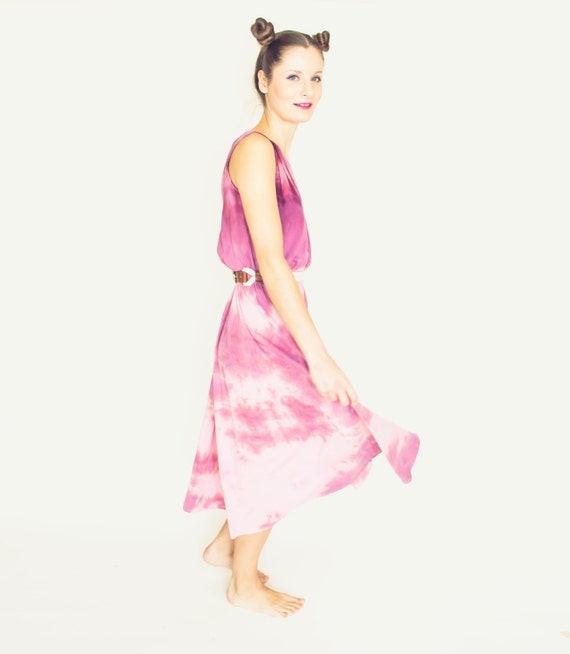 Pink organic cotton maxi dress each wedding dress by for Organic cotton wedding dress