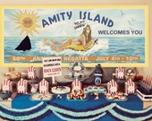 Jaws Amity Island Billboard - Banner / Sign / Poster