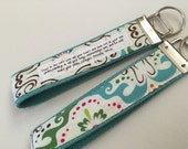 Texas Daydream on Aqua Canvas Fob:  You Choose Verse or Quote