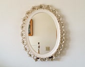 Syroco Mirror, French Provincial Style Oval Mirror, Wall or Table Mirror