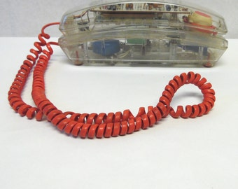 80's Clear Telephone Slimline See Through Phone