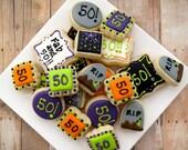 50th Birthday Cookies - Mini (2 Dozen)