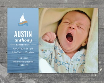 Baby Announcement Sailboat