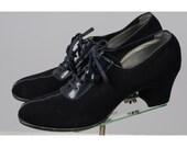 1930s shoes/ 30s oxfords/ tassel lace ups