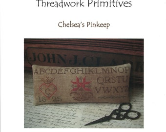Threadwork Primitives: Chelsea's Pinkeep - Cross Stitch Pattern