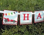 Cars Happy Birthday Banner Printable - Instant Download - Let's Race Collection