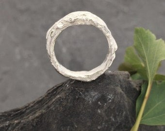 Twig, branch ring sterling silver