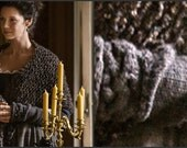 Outlander Inspired Set PDF Pattern Claire's Shawl and Arm Warmers Fingerless Gloves # 1 Sassenach Knitting Pattern