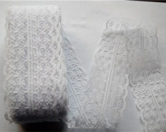 White Lace Trim-40mm-3 YDS