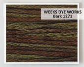 BARK 1271 Weeks Dye Works WDW hand-dyed embroidery floss cross stitch thread at thecottageneedle.com