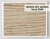 SAND 3500 Weeks Dye Works WDW hand-dyed embroidery floss cross stitch thread at thecottageneedle.com