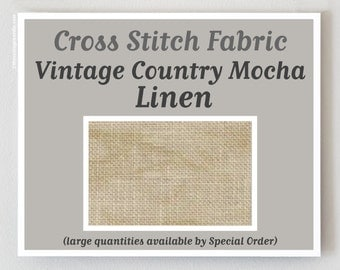 VINTAGE COUNTRY MOCHA cross stitch fabric 25 ct. count Lugana by Zweigart at thecottageneedle.com hand embroidery