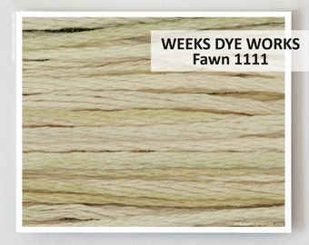 FAWN 1111 : Weeks Dye Works WDW hand-dyed embroidery floss cross stitch thread at thecottageneedle.com