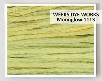 MOONGLOW  : Weeks Dye Works WDW hand-dyed embroidery floss cross stitch thread at thecottageneedle.com