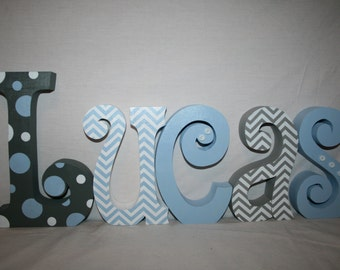 Wooden letters, Nursery letters, Wooden letters for nursery, 5 letter set, Baby name letters, Wood letters, Wood letters for nursery