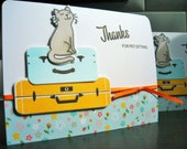 Pet Sitting Thank You Card, Card for Pet Sitter, Cat Sitter Thank You Note