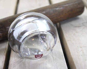 Orrefors signed crystal baseball paperweight