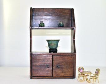 Miniature Cupboard in Vintage Doll Size