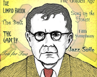Dmitri SHOSTAKOVICH - a portrait art print of the great Russian composer