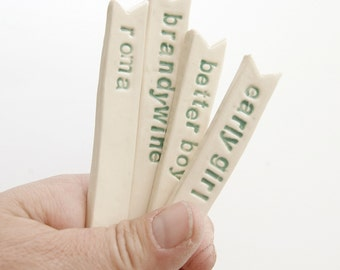 custom ceramic Garden Stakes go green