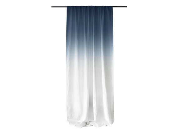 Blue Ombre Window Curtains