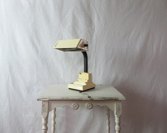 Vintage Goose Neck Lamp for Office Desk Plastic Lamp Organizational Base.