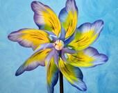 Blue Pansey Flower Pinwheel