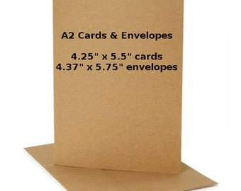 50 Blank Cards with Envelopes, A2 Cards, A2 Envelopes