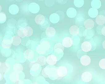"""Seafoam Aqua Blue Bokeh background 12"""" x 12"""""""