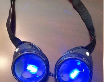 Blue LED Goggles