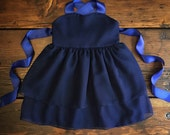 Navy blue dress - Navy Chiffon Flower Girl Dress - blue - Toddler chiffon dress - Special Occasion dress - Toddler dress - Custom