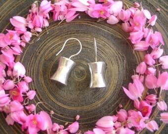 Thai Hilltribe Silver Earrings - The Geometry Silver (12)