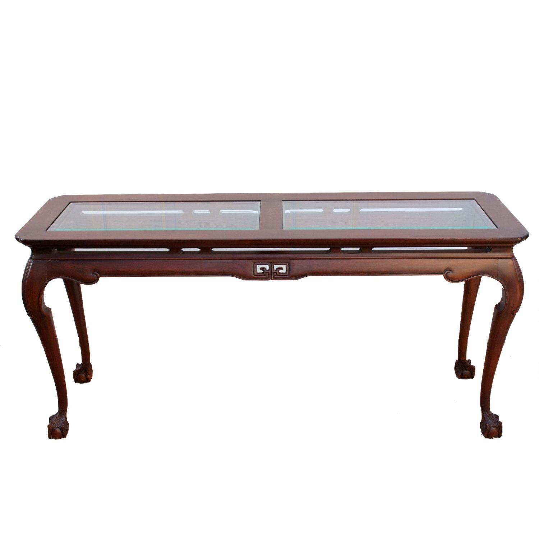 Vintage drexel chippendale console sofa table haute juice - Table haute console ...