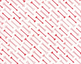 Airmail Cupid in Love Red, Eric and Julie Comstock, Moda Fabrics, 100% Cotton Fabric, 37104 13