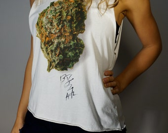 Nugget Tee XS S M L Signed by BIG BOI of OutKast ATLiens Mary Jane Bud Marijuana Hippie Gypsy Club Kid Acid Grunge Hipster Festival Tank T