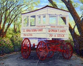 Roman Candy Wagon - matted to fit 8x10 frame - PRINT