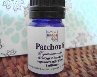 Organic Patchouli Essential Oil - Warm, Spicy Aroma - Antiseptic, Anti-Fungal, Deodorizing, Essential Oil