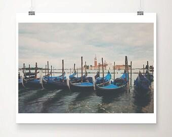 Venice photograph gondola photograph Italy photograph travel photography Venice print San Giorgio Maggiore photograph Italian decor
