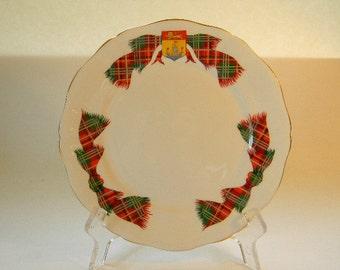 ADDERLEY PLATE - Vintage Bone China Plate, New Brunswick Tartan
