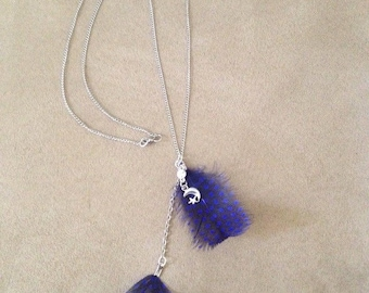 Blue Feathers Necklace