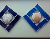 Reserved  for Georgia, Seashell~Blue, Violet