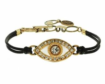 Medium White Evil Eye Bracelet