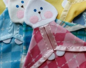 Pink argyle fleece Fisher Price Bunny Replica