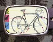 Bike Belt Buckle, Diagram Buckle, Retro Cool 527