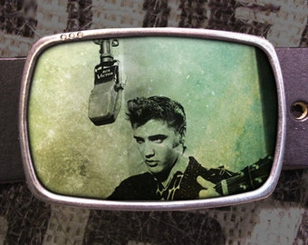 Elvis Belt Buckle, Vintage Inspired 553