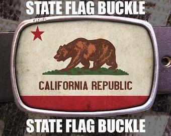 State Flag Belt Buckle, Custom Buckle