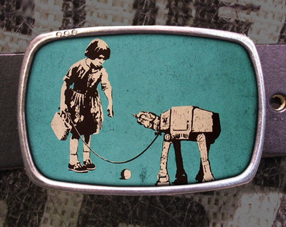 At-at Fetch Star Wars Belt Buckle, Vintage Inspired, Geekery 580