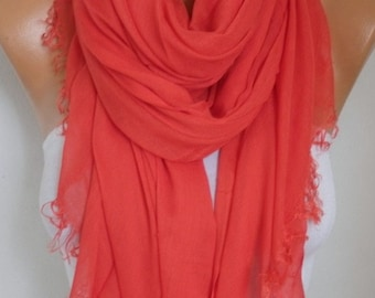 Red Cotton Soft Scarf,Summer Shawl,Bridesmaid Gift Cowl Oversized Wrap Gift Ideas For Her Women Fashion Accessories,Teacher Gift Scarves